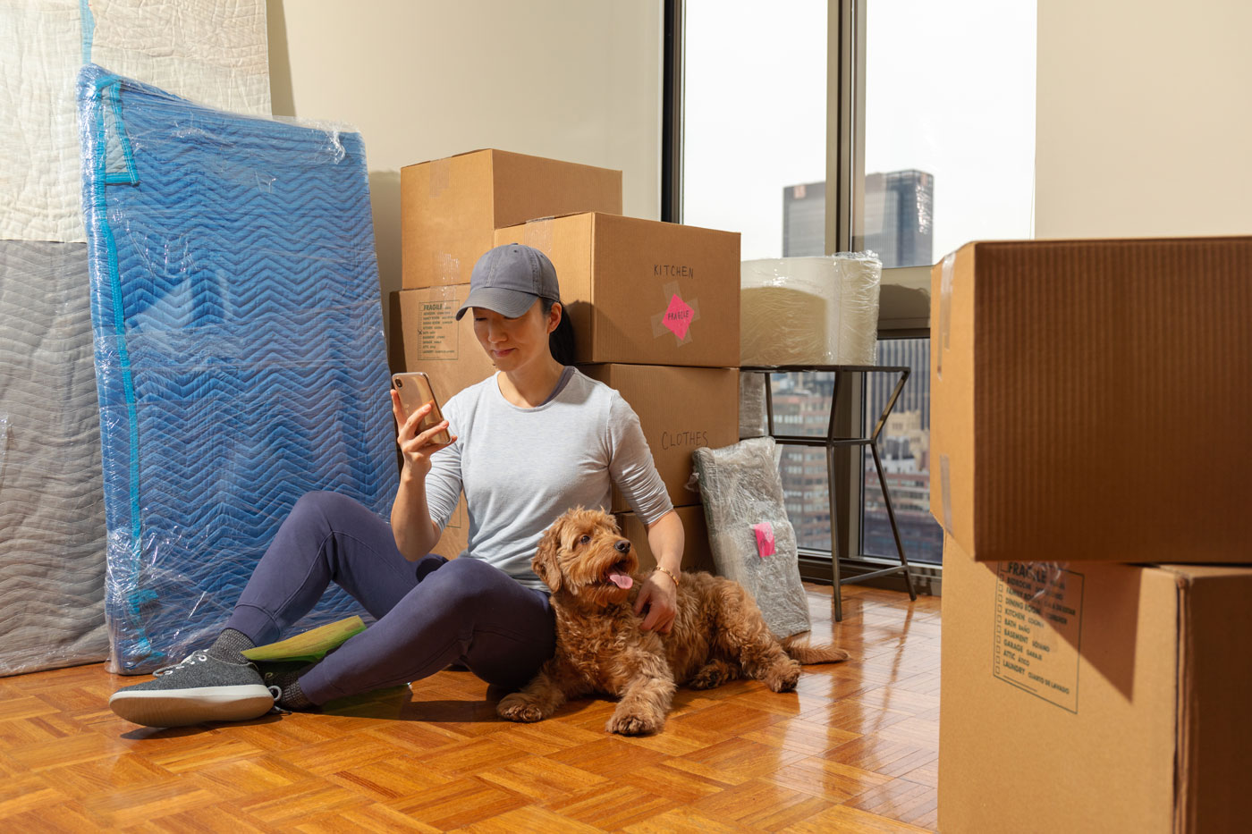 Woman is moving and looking for a self storage